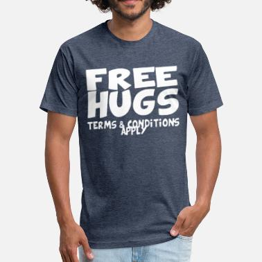 Free Hugs FREE HUGS - Fitted Cotton/Poly T-Shirt by Next Level