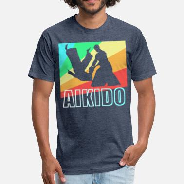 Aikido Japan Aikido Japan Gift - Fitted Cotton/Poly T-Shirt by Next Level