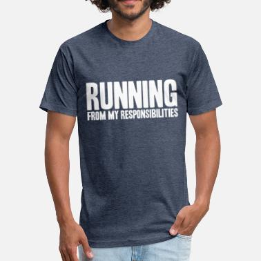 Sprinting sprint - Fitted Cotton/Poly T-Shirt by Next Level