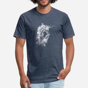 White Hole Hand hole - white version - gift idea - Fitted Cotton/Poly T-Shirt by Next Level