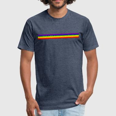Rainbow Paint Rough Painted Rainbow Stripe - Fitted Cotton/Poly T-Shirt by Next Level
