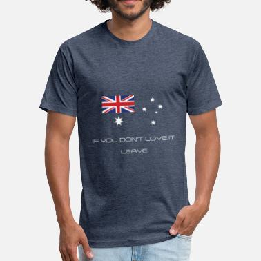Australian Patriotism Australian Fan Patriotic T-Shirt - Fitted Cotton/Poly T-Shirt by Next Level