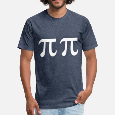 Pi Designs Pi Pi Design - The circle number as a symbol - Fitted Cotton/Poly T-Shirt by Next Level