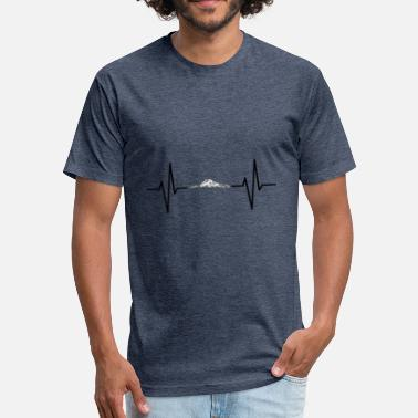 Mountain Beat My heart beats for mountains! gift - Fitted Cotton/Poly T-Shirt by Next Level