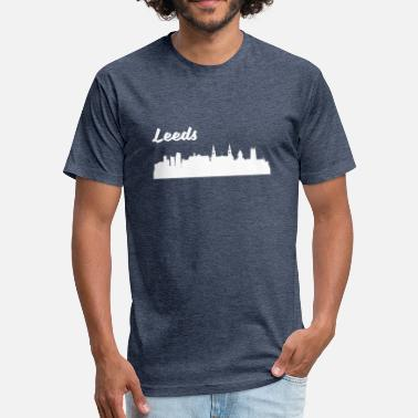 Leeds Leeds Skyline - Fitted Cotton/Poly T-Shirt by Next Level
