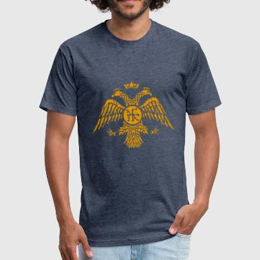 Byzantine Byzantine Eagle Symbol Flag - Fitted Cotton/Poly T-Shirt by Next Level