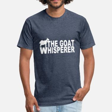 The Goat Whisperer The goat whisperer - Fitted Cotton/Poly T-Shirt by Next Level
