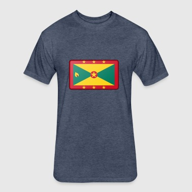 Grenada Flag - Fitted Cotton/Poly T-Shirt by Next Level