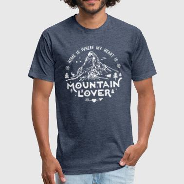 Mountain Lover Matterhorn - Fitted Cotton/Poly T-Shirt by Next Level