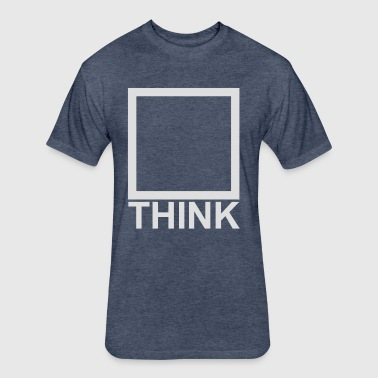 Think_light grey - Fitted Cotton/Poly T-Shirt by Next Level