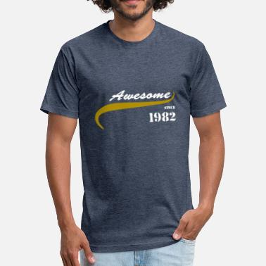 Awesome Since 1982 Awesome Since 1982 - Fitted Cotton/Poly T-Shirt by Next Level