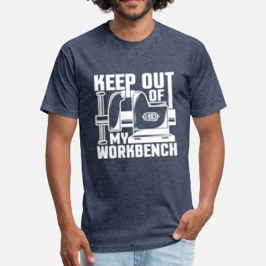 Woodworking Quote Woodworking Funny Workbench Workshop Quote - Fitted Cotton/Poly T-Shirt by Next Level