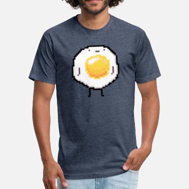 Sunny Side Up Standing Up Egg Funny - Fitted Cotton/Poly T-Shirt by Next Level