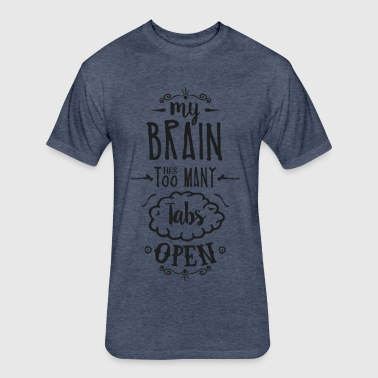 my brain - dark - Fitted Cotton/Poly T-Shirt by Next Level