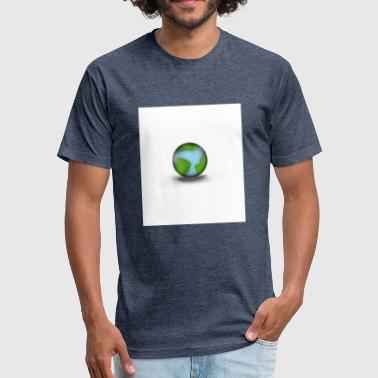 Earth - Fitted Cotton/Poly T-Shirt by Next Level