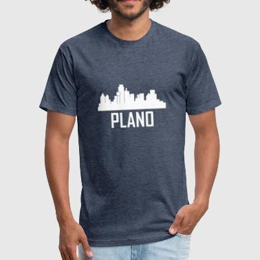 Plano Texas Plano Texas City Skyline - Fitted Cotton/Poly T-Shirt by Next Level