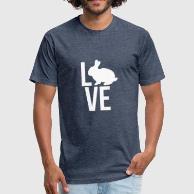 Love Bunny - Fitted Cotton/Poly T-Shirt by Next Level
