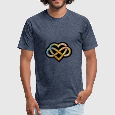 Heart Infinity Polyamory Infinity Heart - Fitted Cotton/Poly T-Shirt by Next Level