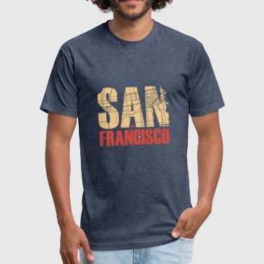 San Francisco - Fitted Cotton/Poly T-Shirt by Next Level