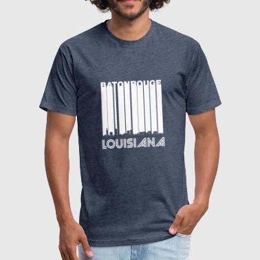 Baton Rouge La Retro Baton Rouge Louisiana Skyline - Fitted Cotton/Poly T-Shirt by Next Level
