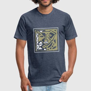 Africa Tribal Mask afroface 2 - Fitted Cotton/Poly T-Shirt by Next Level