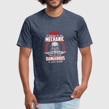 Mechanic Warning EN - Fitted Cotton/Poly T-Shirt by Next Level