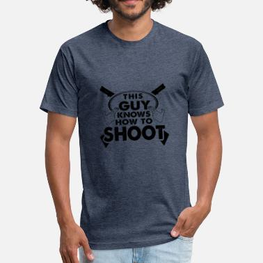 Rifle Guns Shooting Shooter Rifle Gift Shot Shirt - Fitted Cotton/Poly T-Shirt by Next Level