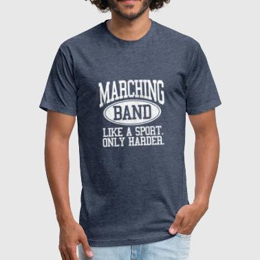 Marching Band Marching Band - Fitted Cotton/Poly T-Shirt by Next Level
