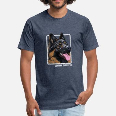 Dog Dogs - German Shepherd - Fitted Cotton/Poly T-Shirt by Next Level