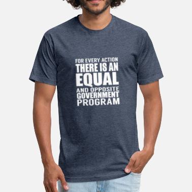 Anti Democrat Anti - Fitted Cotton/Poly T-Shirt by Next Level