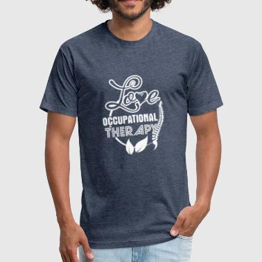 Love Therapy Love Occupational Therapy Shirt - Fitted Cotton/Poly T-Shirt by Next Level