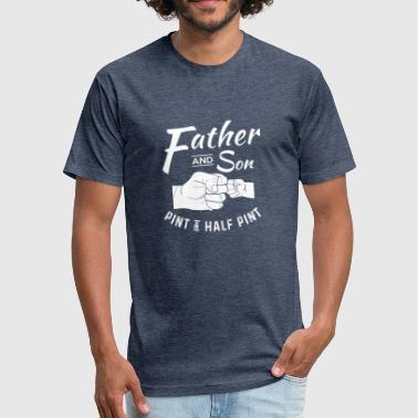 Father And Son Matching Outfit - Fitted Cotton/Poly T-Shirt by Next Level