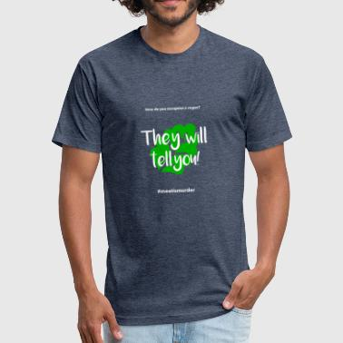 Sarcastic Vegan Vegan Joke - Fitted Cotton/Poly T-Shirt by Next Level