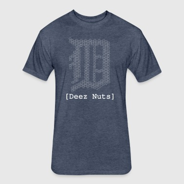Deez-Nuts Detroit - Fitted Cotton/Poly T-Shirt by Next Level