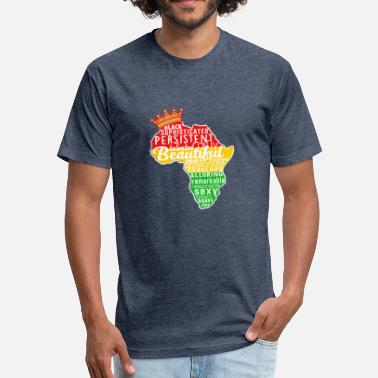 Free Melanin Melanin Africa - Fitted Cotton/Poly T-Shirt by Next Level