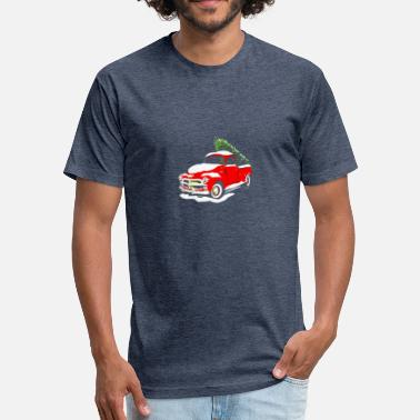 Vintage Truck vintage classic christmas tree truck shirt funny h - Fitted Cotton/Poly T-Shirt by Next Level