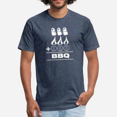 Bbq Supply BBQ - Fitted Cotton/Poly T-Shirt by Next Level