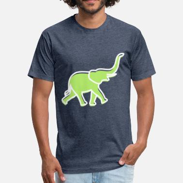 Trunk Tusk A Big Elephant With Trunk - Fitted Cotton/Poly T-Shirt by Next Level