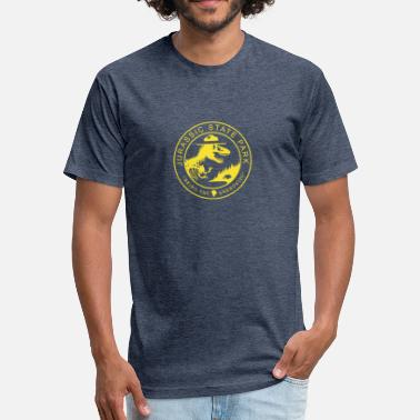 State Parks Jurassic State Park - Fitted Cotton/Poly T-Shirt by Next Level