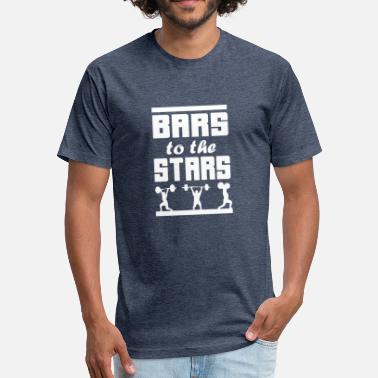 Star & Bar Bars To The Stars - Fitted Cotton/Poly T-Shirt by Next Level