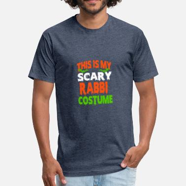 Rabbies Rabbi - SCARY COSTUME HALLOWEEN SHIRT - Fitted Cotton/Poly T-Shirt by Next Level