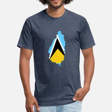 Saint Lucia Saint Lucia - Fitted Cotton/Poly T-Shirt by Next Level