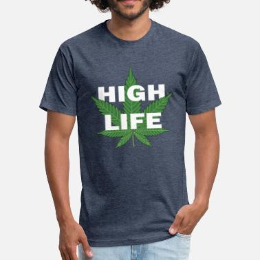 High On Life And Weed High Life - Fitted Cotton/Poly T-Shirt by Next Level