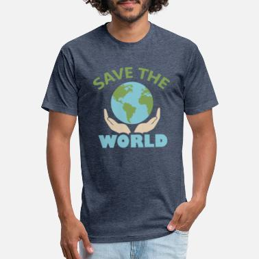 Save The World World - Save the world - Unisex Poly Cotton T-Shirt