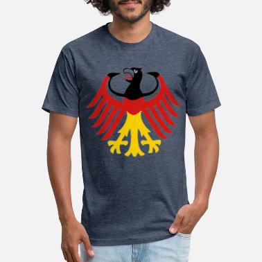 German Flag as German Eagle - Unisex Poly Cotton T-Shirt