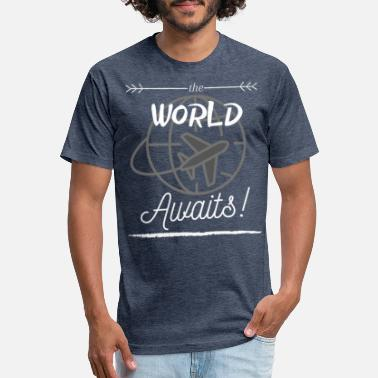 the World Awaits! - Unisex Poly Cotton T-Shirt
