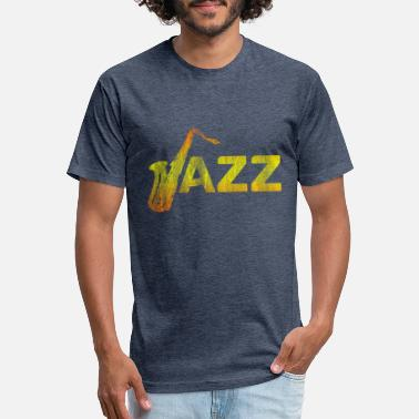 Jazz Saxophone Jazz - Fitted Cotton/Poly T-Shirt by Next Level