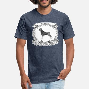 1800s The Rottweiler 1800 - Fitted Cotton/Poly T-Shirt by Next Level