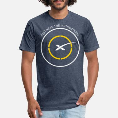 Instructions Read The Instructions SpaceX Droneship Elon Musk - Unisex Poly Cotton T-Shirt