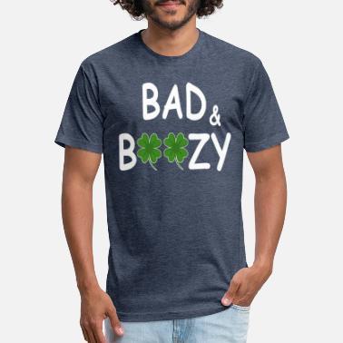 d070f2deb Bad And Boozy Shirts For St Patricks Day Irish - Unisex Poly Cotton T-Shirt